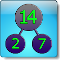 Factorization. Factor calc. icon