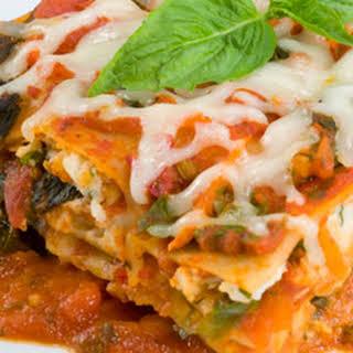 Hearty Vegetarian Lasagna.