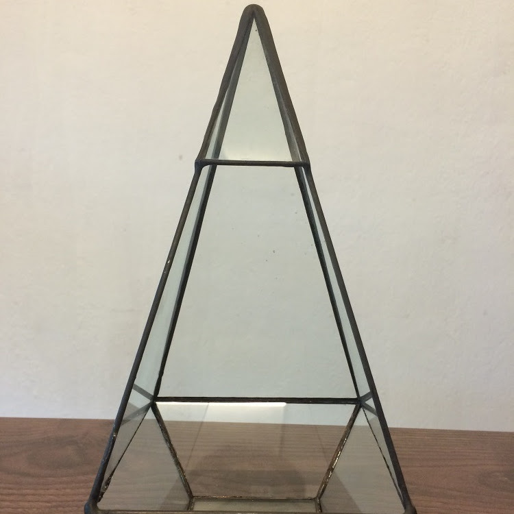 Triangular Decoration or Terrarium Hand Made Glass by AquaticsForevers Enterprise