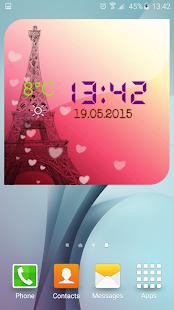 Paris Weather Clock screenshot