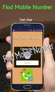 Find mobile number - náhled
