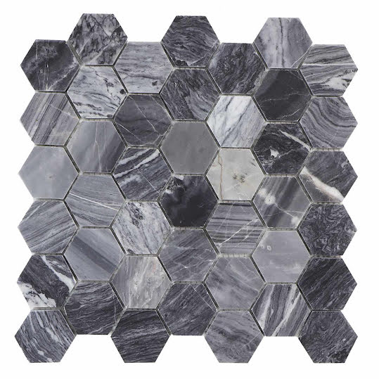 Mosaik Marmor Hexagon Marble Grey