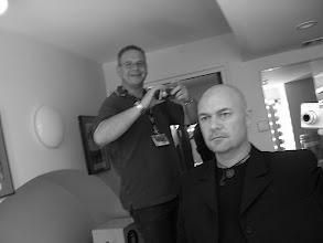 Photo: Backstage Albert Hall with guitar tech Ade Hardy