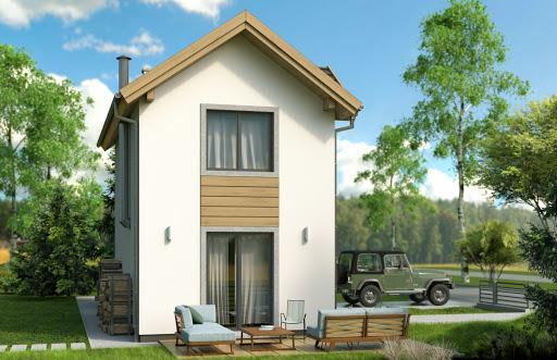 projekt Mikrus 2 jednorodzinny piętrowy