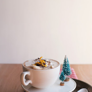 Spicy Orange-Bourbon Hot Chocolate
