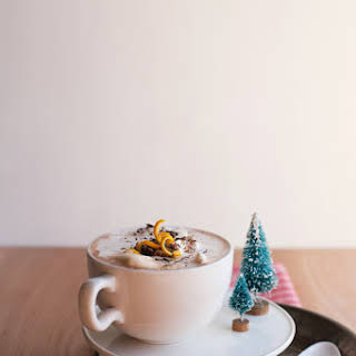 Spicy Orange-Bourbon Hot Chocolate.