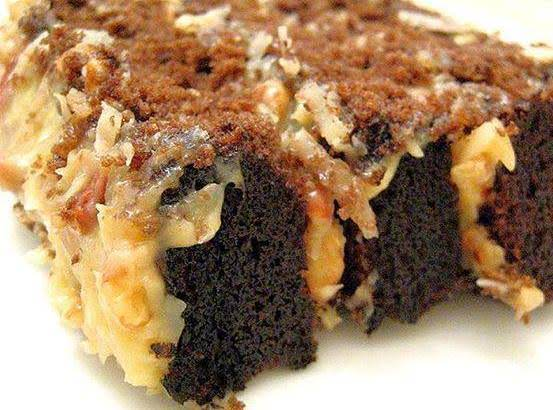 Sinful Triple Layer German Chocolate Cake