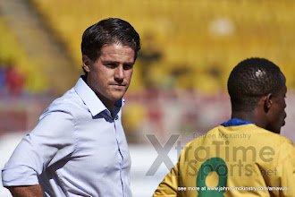 Photo: Coach McKinstry before extra time begins [Rwanda vs Sudan, CECAFA 2015, Semi final, 3 Dec 2015 in Addis Ababa, Ethiopia.  Photo © Darren McKinstry 2015, www.XtraTimeSports.net]
