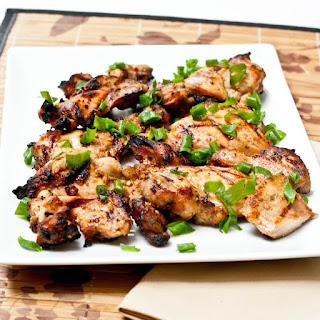 Grilled Chicken Thighs.