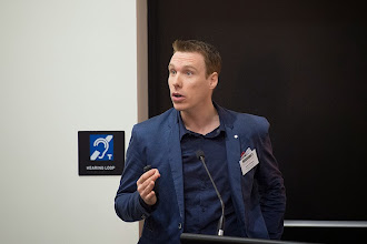 "Photo: Dr James Godwin, ""Defining the role of innate immunity and nerve signalling in adult salamander limb regeneration"". James won Best Postdoctoral Oral Presentation"