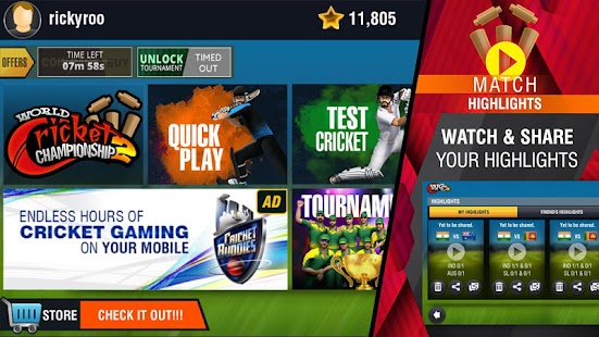 World Cricket Championship 2 - WCC2  [Mod Money/Unlocked]