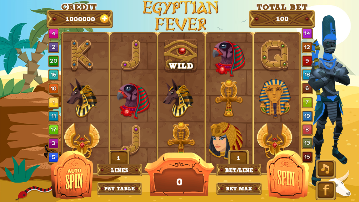 Egyptian Slot Fever- screenshot
