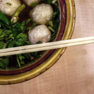 Cantonese Spiced Pork Meatball Soup.