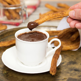 Spanish Churros Con Chocolate.