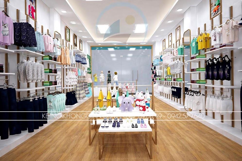 thiết kế shop thời trang trẻ em 9