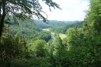 Photo: pohled do údolí na řeku Moravici