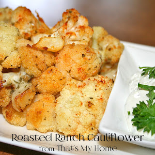 Ranch Roasted Cauliflower