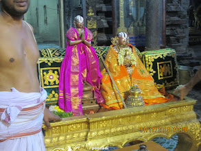 Photo: thoNdaradippodi AzhwAr and emperumAnAr - after thirumanjanam