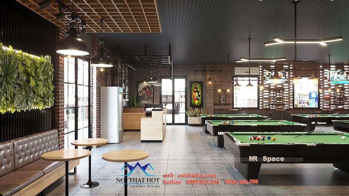 thiết kế quán billiards chuyên nghiệp