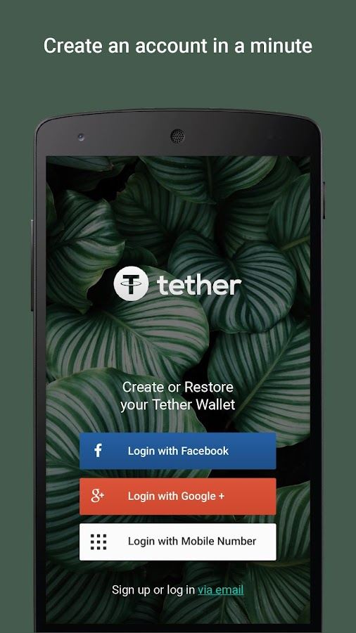 Tether Wallet- screenshot