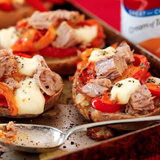 Gary Rhodes' Baked Potato and Tuna Peperonata with Melting Cheese