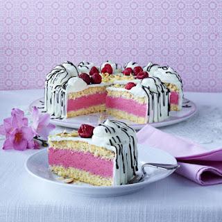 Raspberries and Cream Cake.