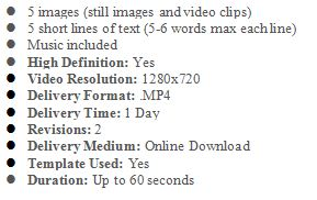 This Package is for those who wish to have a custom video made for their business. The video includes: