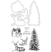 Kaisercraft Dies & Stamps - Merry Christmas