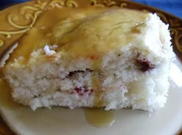 Ellie's Cranberry Cake with Lemon Butter Sauce