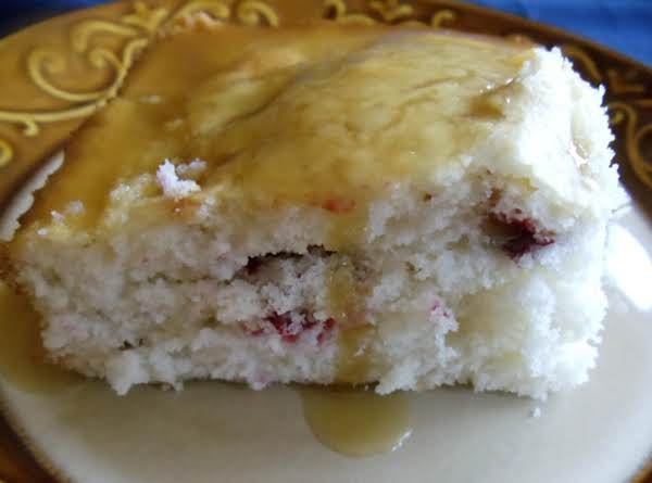Ellie's Cranberry Cake With Lemon Butter Sauce