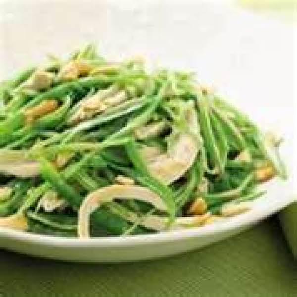 Snow Pea Salad With Shallot & Tarragon Recipe