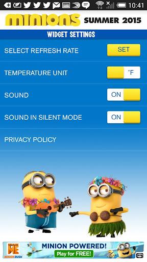 Minions Weather Widget 3.03 screenshots 2