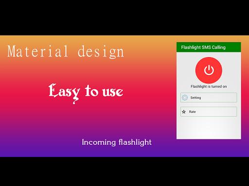 Flash Light SMS Call Incoming