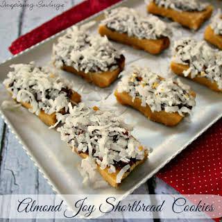 Almond Joy Shortbread Cookies.