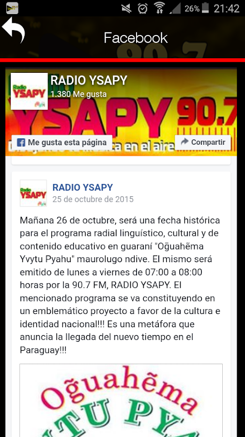 Radio Ysapy Fm 90.7- screenshot