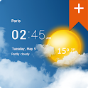 Transparent horloge & météo icon