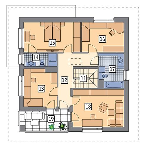 Bez tajemnic - wariant I - M220a - Rzut piętra