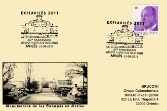 Photo: Matasellos del Monumento a los Canapes en el 60 aniversario del Grupo de Aviles 2011