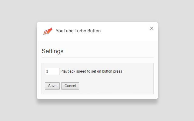 YouTube Turbo Button