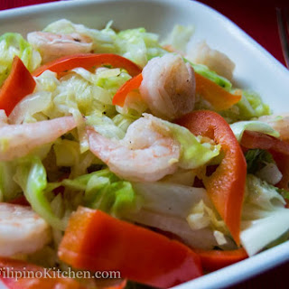 Quick Stir Fry Cabbage With Shrimps (Ginisang Repolyo)
