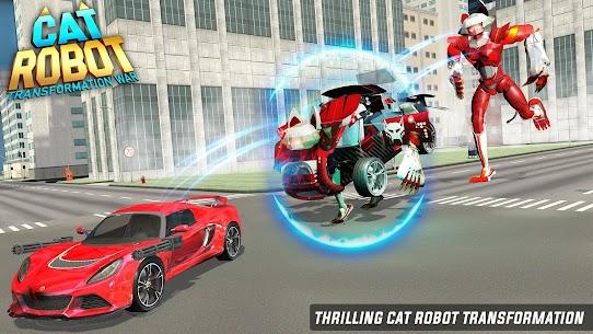 Cat Robot Car Game – Car Robot War 4
