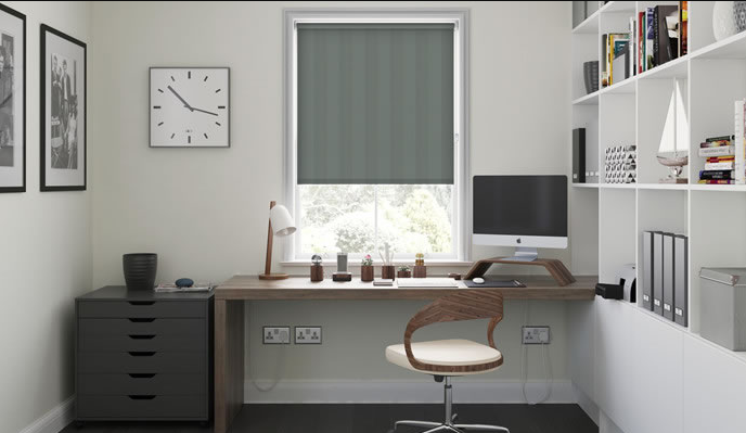 Why Roman Blinds Are Practical For Study Rooms