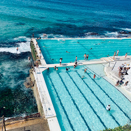 Bondi Icebergs Pool, Bondi Beach, Australia by Di Mc - Instagram & Mobile iPhone ( icebergs, ocean, blue, beach, pool, australia, swim, bondi )