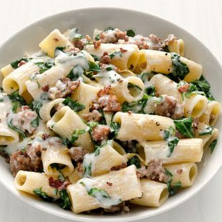Rigatoni with Swiss Chard and Sausage.