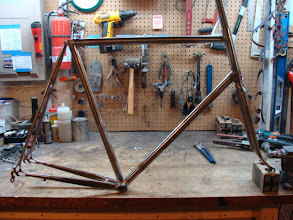 Photo: Yeah, I skipped a few steps, but here's the finished frame and fork.