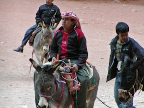 Photo: The site in front of the Treasury is full of all sorts of donkeys and camels.