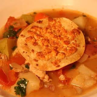 Helena's Chorizo & Catfish Soup.