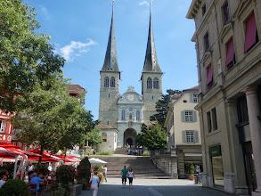 Photo: nejvýznamější kostel sv.Leodegar v Luzernu