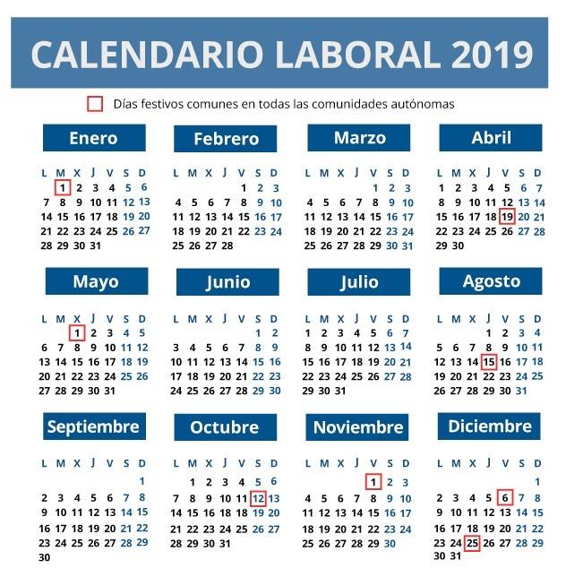 Calendario Laboral Ceuta 2019.Cuantos Puentes Habra En 2019 Asi Es El Calendario Laboral De Este