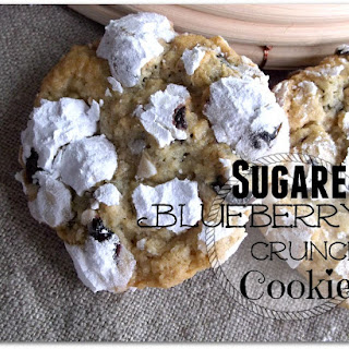 Sugared Blueberry Crunch Cookies